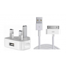 Original Apple iPhone Charger plug and cable for iPhone 4 & 4S